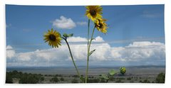 Sunflowers On The Gorge Beach Sheet