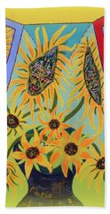 Sunflowers Rhapsody Beach Towel