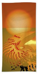 Beach Towel featuring the digital art Sungazing by Eleni Mac Synodinos