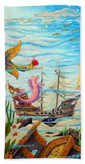 Sunken Ships Beach Towel