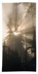 Sunlight And Fog Beach Towel