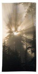 Sunlight And Fog Beach Sheet