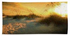 Sunlight On The Dunes Beach Towel