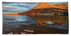 Sunlight On The Flatirons Reservoir Beach Towel by Ronda Kimbrow