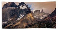 Beach Towel featuring the photograph Sunlight On The Mountain by Andrew Matwijec