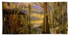 Sunlight On The Swamp Beach Sheet