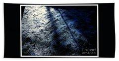 Sunlight Shadows On Ice - Abstract Beach Towel