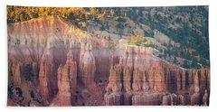 Sunlit Bryce Canyon  Column Details Beach Towel