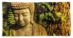 Sunlit Buddha 2015 Beach Towel