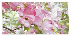 Sunlit Dogwood Blooms Beach Sheet