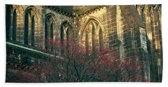 Sunlit Glasgow Cathedral Beach Towel