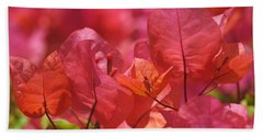 Sunlit Pink-orange Bougainvillea Beach Towel