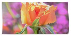 Sunlit Rose Beach Sheet by Debby Pueschel