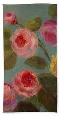 Sunlit Roses Beach Towel