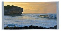Sunlit Waves - Kauai Dawn Beach Towel