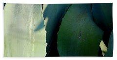Sunlit Wild Agave  Beach Towel