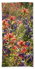Sunlit Wild Flowers Beach Towel