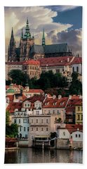 Sunny Afternoon In Prague Beach Towel