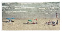 Sunny Day At North Myrtle Beach Beach Towel