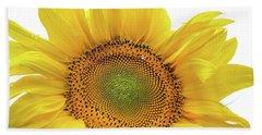 Beach Towel featuring the photograph Sunny Flower 1 by Jenny Rainbow