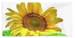 Beach Towel featuring the photograph Sunny Flower by Jenny Rainbow
