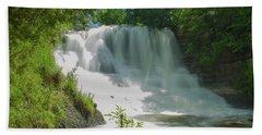 Sunny Flowing Falls Beach Towel