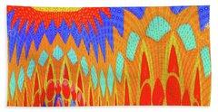 Sunny Garden Beach Towel by Ann Johndro-Collins