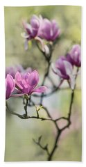 Sunny Impression With Pink Magnolias Beach Towel