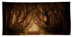 Sunny Morning In Dark Hedges Beach Towel