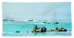 Sunny Pacific Ocean Oregon Coast Beach Towel