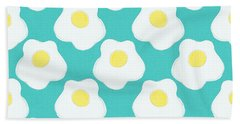 Sunny Side Up Eggs- Art By Linda Woods Beach Towel