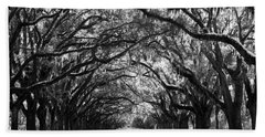 Sunny Southern Day - Black And White Beach Towel