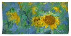 Sunny Sunflower Beach Sheet