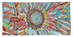 Sunny Sunflowers Beach Sheet