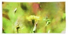Sunny Yellow Flower Beach Towel