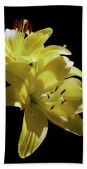 Sunny Yellow Lilies Beach Sheet