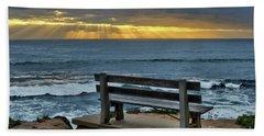 Sunrays On The Horizon Beach Towel
