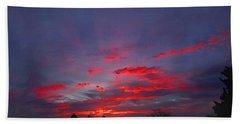 Sunrise Abstract, Red Oklahoma Morning Beach Towel