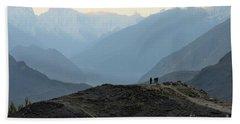 Sunrise Among The Karakoram Mountains In Hunza Valley Pakistan Beach Towel