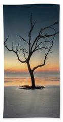 Sunrise And A Driftwood Tree Beach Sheet