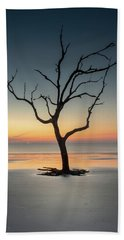 Sunrise And A Driftwood Tree Beach Sheet