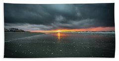 Sunrise And Storm Clouds - Isle Of Palms, Sc Beach Towel