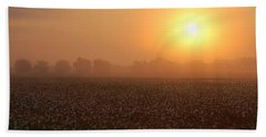 Sunrise And The Cotton Field Beach Towel