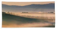 Sunrise At Agriturismo Poggio Covili Beach Towel