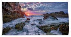 Sunrise At Bald Head Cliff Beach Towel by Rick Berk