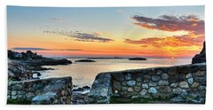 Sunrise At Castle Rock Marblehead Ma Beach Towel