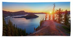 Sunrise At Crater Lake Beach Sheet
