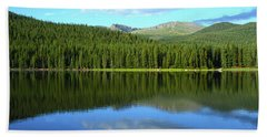 Beach Towel featuring the photograph Sunrise At Echo Lake by Marie Leslie
