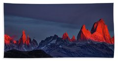 Sunrise At Fitz Roy #2 - Patagonia Beach Sheet