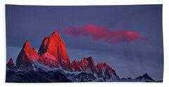 Sunrise At Fitz Roy #3 - Patagonia Beach Sheet